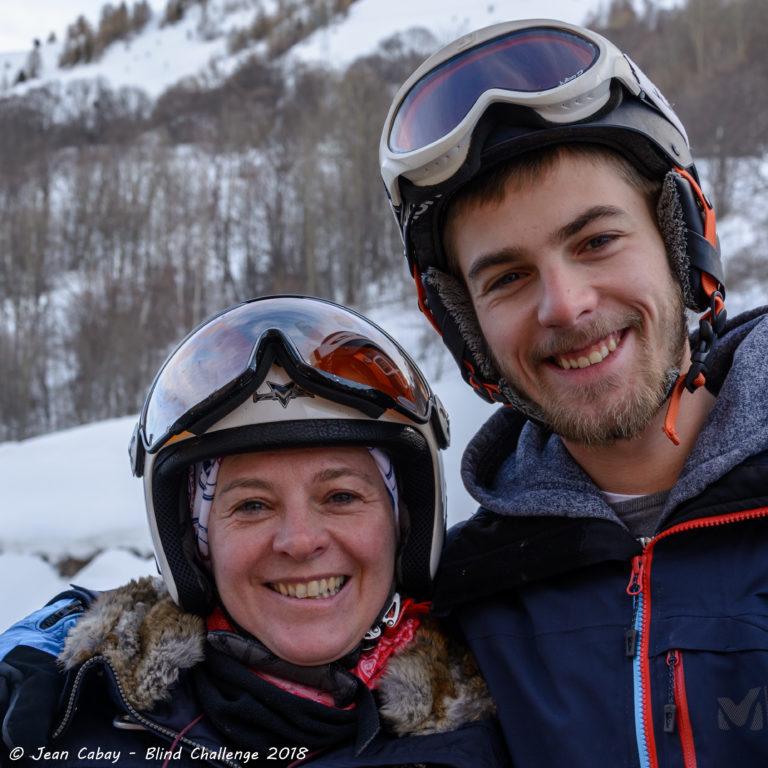 ski Valloire 2018_Laurence, guide ski, et son fils Romain, guide snowboard