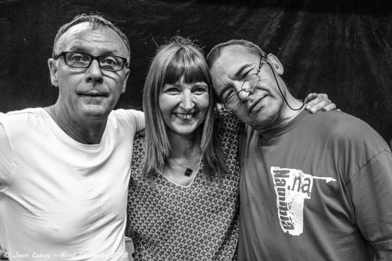 André, Carine et Thierry, bénévoles lors du Repas dans le Noir # 8 juin 2018