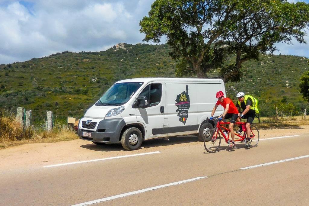 Tour de Corse 2016_le tandem François - Philippe sur la route de Calenzina