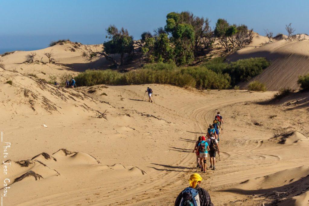 Maroc 2017_trekking dans les dunes en direction d'Essaouira
