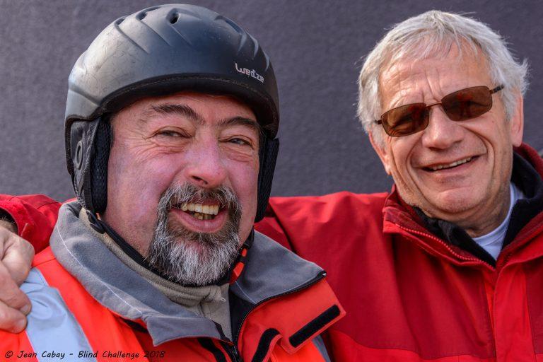 Georgy et Jacky, deux bénévoles de l'encadrement du stage annuel de sports d'hiver